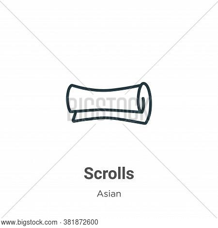 Scrolls icon isolated on white background from asian collection. Scrolls icon trendy and modern Scro
