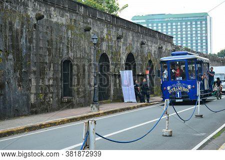 Manila, Ph - Oct. 5 - Puerta Real Facade At Intramuros Walled City On October 5, 2019 In Manila, Phi