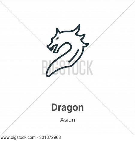 Dragon icon isolated on white background from asian collection. Dragon icon trendy and modern Dragon