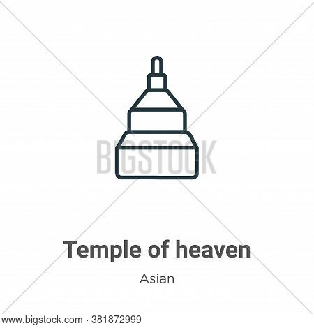 Temple of heaven icon isolated on white background from asian collection. Temple of heaven icon tren
