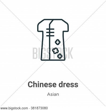 Chinese dress icon isolated on white background from asian collection. Chinese dress icon trendy and