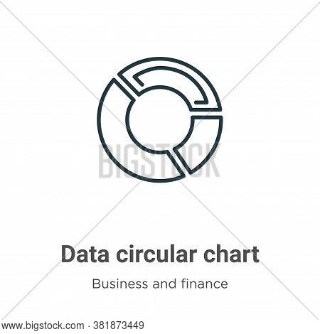 Data circular chart icon isolated on white background from business and finance collection. Data cir