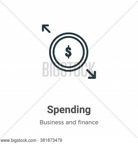 Spending Icon From Business And Finance Collection Isolated On White Background.