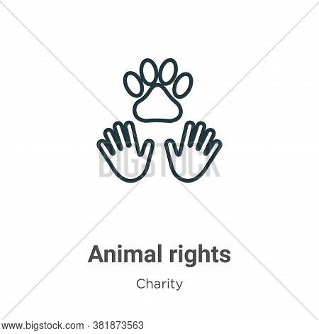 Animal rights icon isolated on white background from charity collection. Animal rights icon trendy a