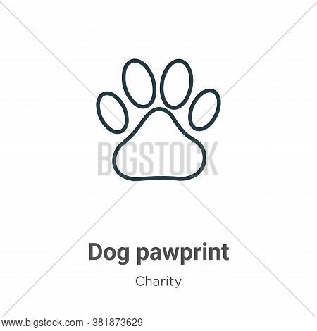 Dog Pawprint Icon From Charity Collection Isolated On White Background.