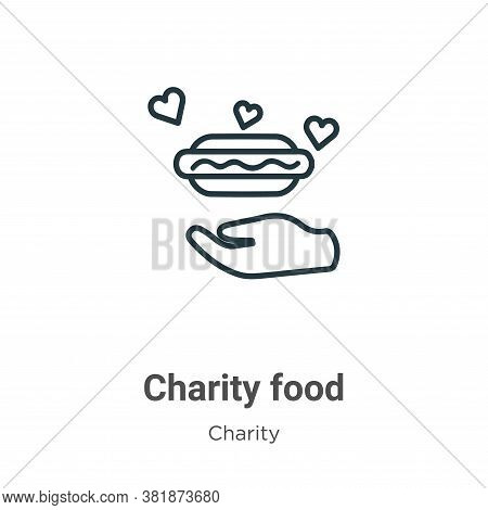 Charity food icon isolated on white background from charity collection. Charity food icon trendy and