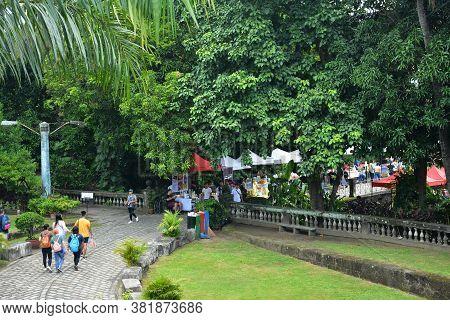Manila, Ph - Oct. 5 - Puerta Real Outdoor Park Garden At Intramuros Walled City On October 5, 2019 I