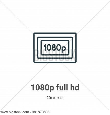 1080p full hd icon isolated on white background from cinema collection. 1080p full hd icon trendy an