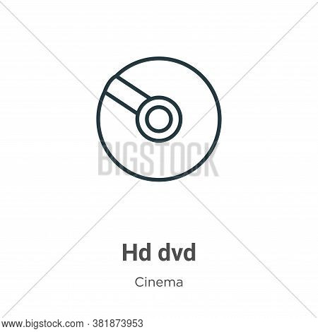 Hd dvd icon isolated on white background from cinema collection. Hd dvd icon trendy and modern Hd dv
