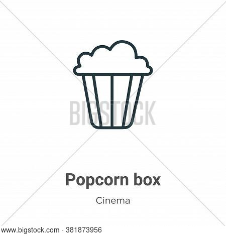 Popcorn box icon isolated on white background from cinema collection. Popcorn box icon trendy and mo