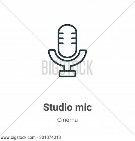 Studio mic icon isolated on white background from cinema collection. Studio mic icon trendy and mode