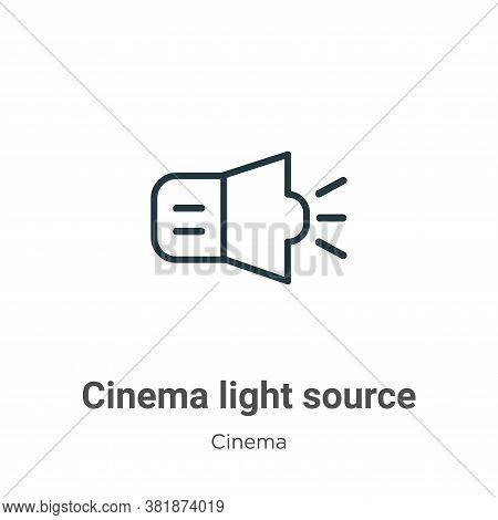 Cinema light source icon isolated on white background from cinema collection. Cinema light source ic