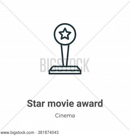Star Movie Award Icon From Cinema Collection Isolated On White Background.