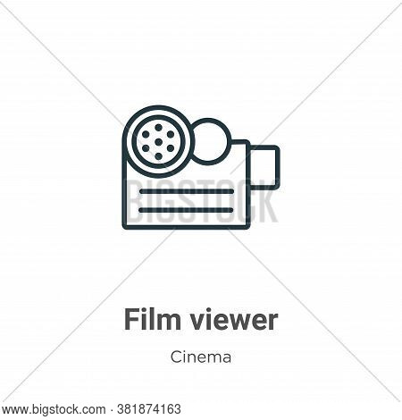 Film viewer icon isolated on white background from cinema collection. Film viewer icon trendy and mo