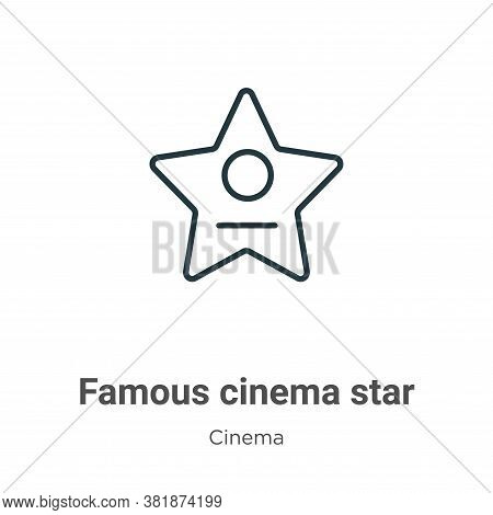 Famous cinema star icon isolated on white background from cinema collection. Famous cinema star icon