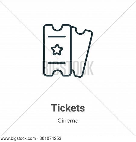 Tickets icon isolated on white background from cinema collection. Tickets icon trendy and modern Tic