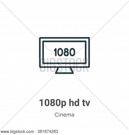 1080p hd tv icon isolated on white background from cinema collection. 1080p hd tv icon trendy and mo