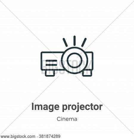 Image projector icon isolated on white background from cinema collection. Image projector icon trend