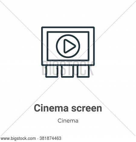 Cinema screen icon isolated on white background from cinema collection. Cinema screen icon trendy an