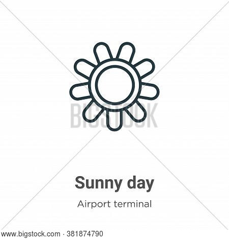 Sunny day icon isolated on white background from airport terminal collection. Sunny day icon trendy