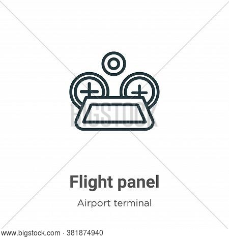 Flight panel icon isolated on white background from airport terminal collection. Flight panel icon t