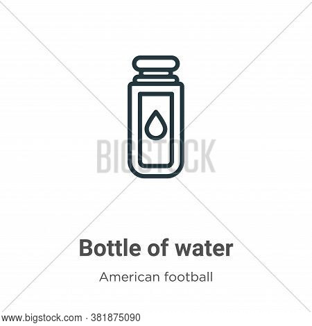 Bottle of water icon isolated on white background from american football collection. Bottle of water