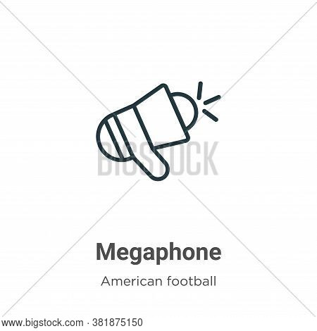 Megaphone icon isolated on white background from american football collection. Megaphone icon trendy