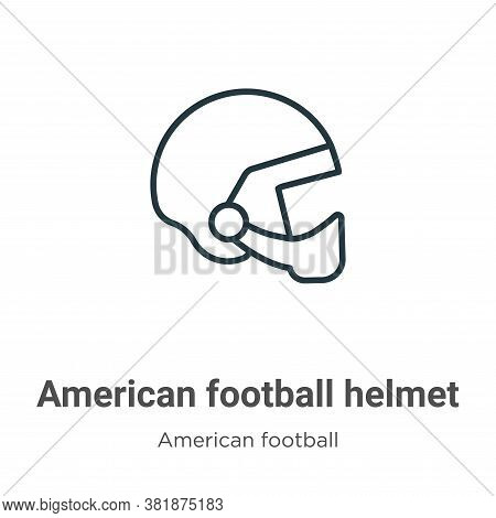 American football helmet icon isolated on white background from american football collection. Americ