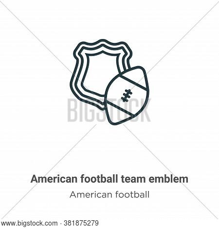 American football team emblem icon isolated on white background from american football collection. A