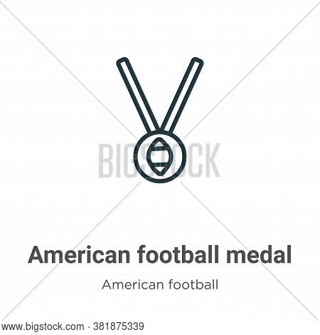 American football medal icon isolated on white background from american football collection. America