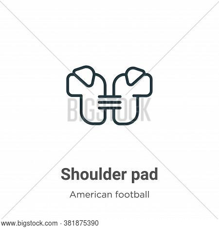 Shoulder pad icon isolated on white background from american football collection. Shoulder pad icon