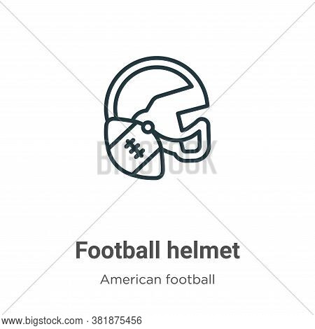 Football helmet icon isolated on white background from american football collection. Football helmet
