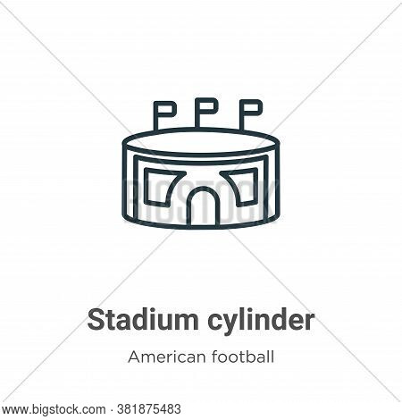 Stadium cylinder icon isolated on white background from american football collection. Stadium cylind