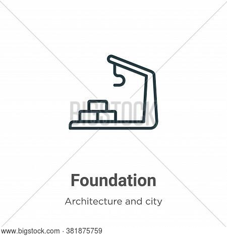 Foundation icon isolated on white background from architecture and city collection. Foundation icon