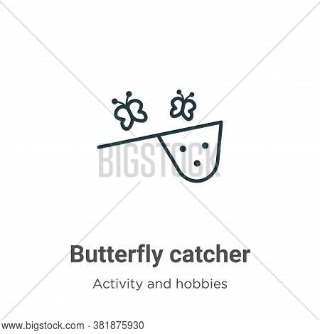 Butterfly catcher icon isolated on white background from activity and hobbies collection. Butterfly