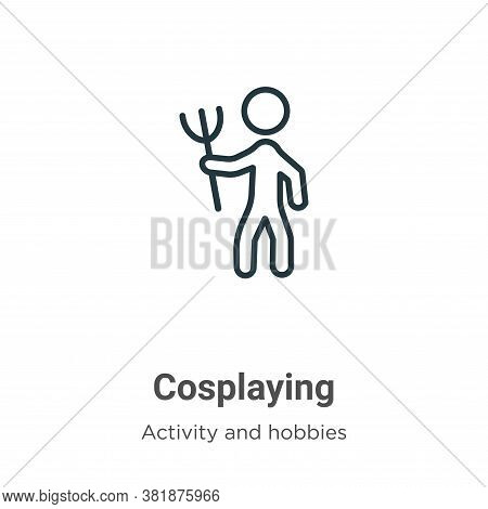 Cosplaying icon isolated on white background from activity and hobbies collection. Cosplaying icon t