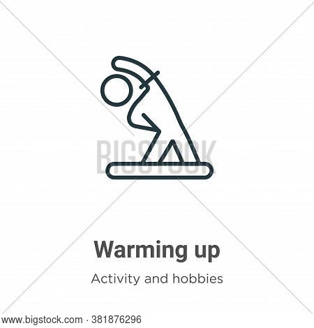 Warming up icon isolated on white background from activities collection. Warming up icon trendy and