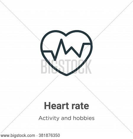 Heart rate icon isolated on white background from activities collection. Heart rate icon trendy and