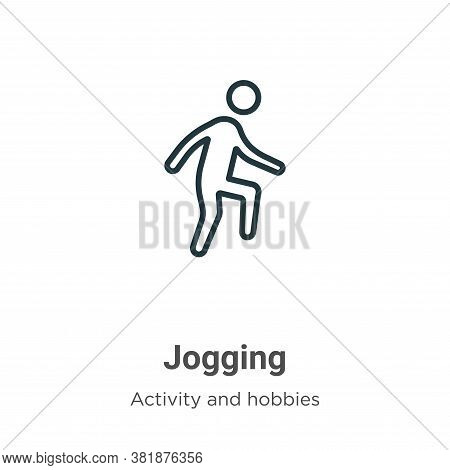 Jogging icon isolated on white background from activities collection. Jogging icon trendy and modern
