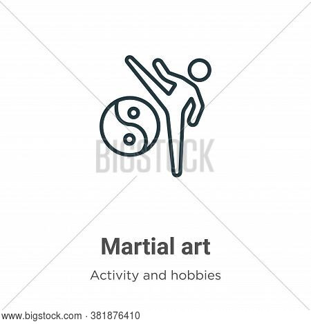 Martial art icon isolated on white background from activities collection. Martial art icon trendy an