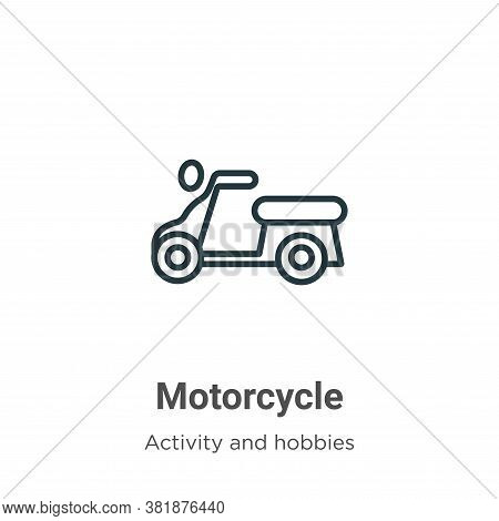 Motorcycle icon isolated on white background from activities collection. Motorcycle icon trendy and