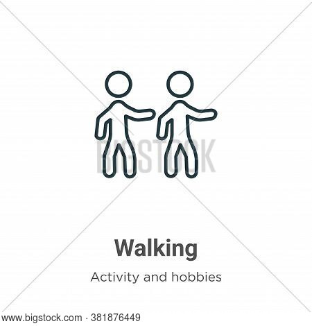 Walking icon isolated on white background from activities collection. Walking icon trendy and modern