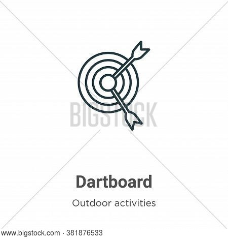 Dartboard Icon From Outdoor Activities Collection Isolated On White Background.