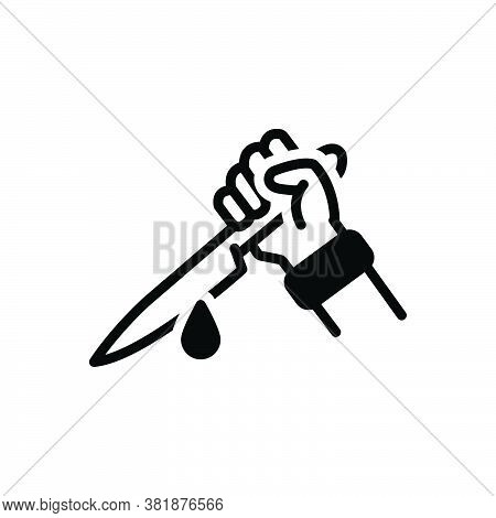 Black Solid Icon For Killing Murder Assassination Slaughter Manslaughter Homicide Matricide Slaying