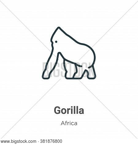 Gorilla icon isolated on white background from africa collection. Gorilla icon trendy and modern Gor