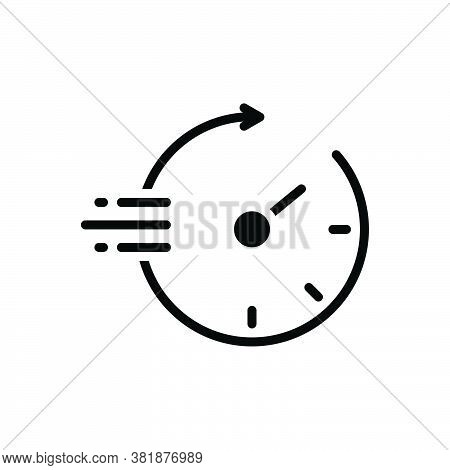 Black Solid Icon For Quickly Soon Speedily Facilely Hastily In-a-hurry Swiftly Pronto Sharply