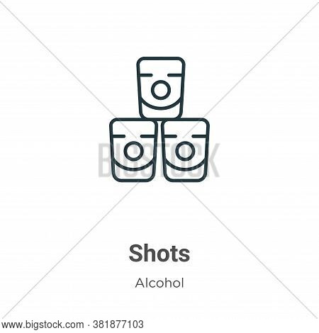 Shots icon isolated on white background from alcohol collection. Shots icon trendy and modern Shots
