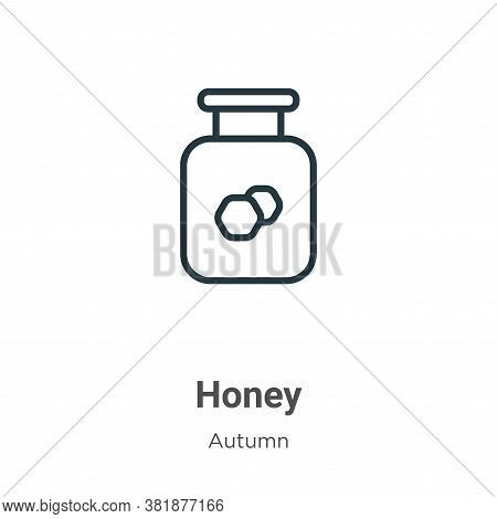 Honey icon isolated on white background from autumn collection. Honey icon trendy and modern Honey s