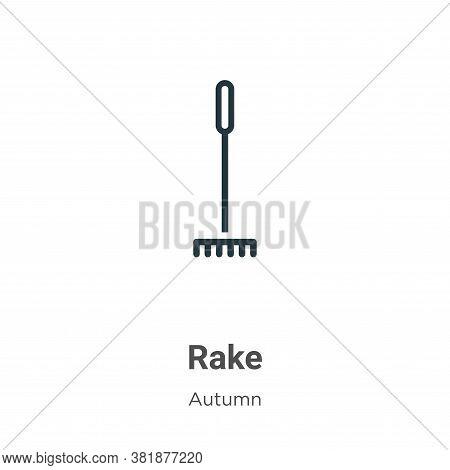 Rake icon isolated on white background from autumn collection. Rake icon trendy and modern Rake symb