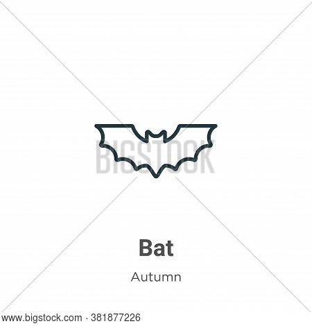 Bat icon isolated on white background from autumn collection. Bat icon trendy and modern Bat symbol